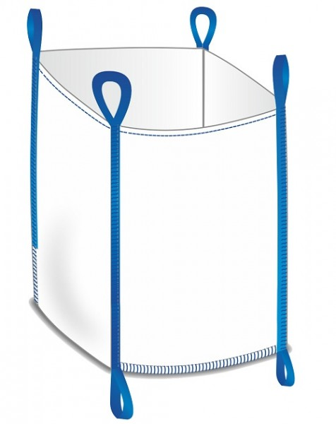 Big Bag 90x90x90cm - Oben offen / Boden geschlossen + Bodenschlaufen