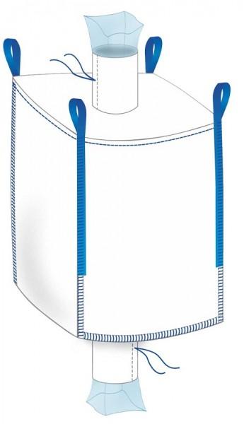 Big Bag mit Inliner 90x90x120cm - Einlauf / Auslauf