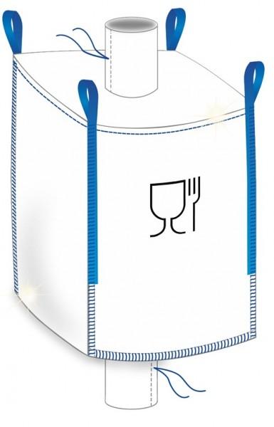 "Big Bag ""Foodgrade"" 90x90x120cm - Einlauf / Auslauf"
