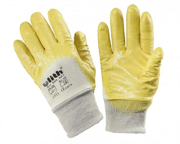 Gants de travail en nitrile, jaunes