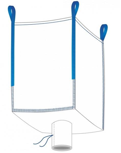 Big Bag 90x90x110cm - Oben offen / Auslauf