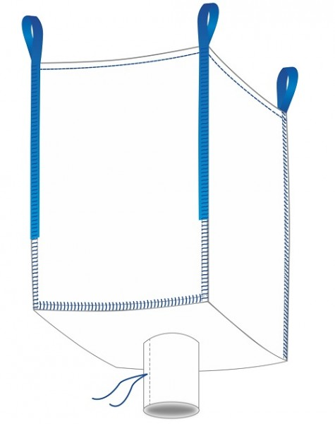 Big Bag 90x90x120cm - Oben offen / Auslauf