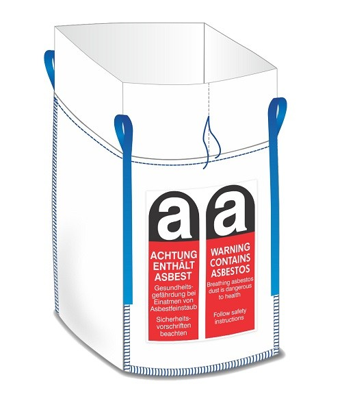 "Big Bag ""Asbest 1m³"" 90x90x110cm"