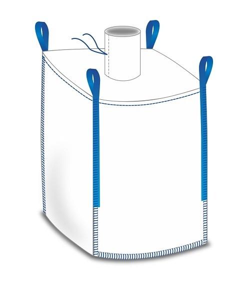 Big Bag 90x90x120cm - Einlauf / Boden geschlossen