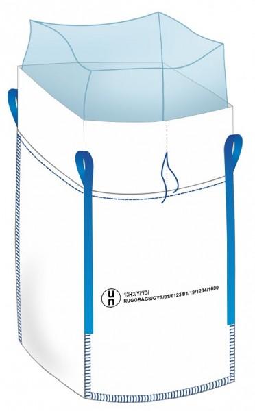 """Big Bag """"UN 13H3/Y..."""" avec Inliner 90x90x110 cm - tablier/fond fermé"""