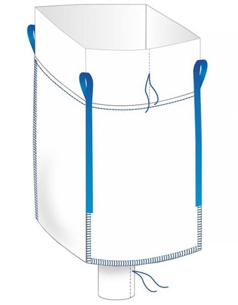 Big Bag 90x90x110cm - Schürze / Auslauf