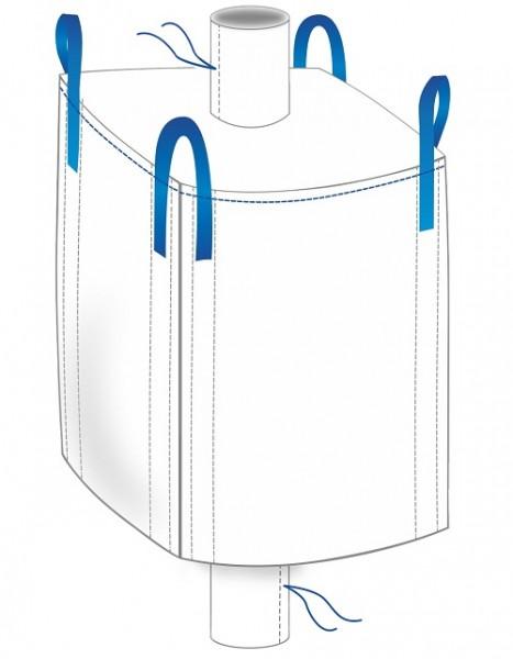 Big Bag 91x91x117cm - Einlauf / Auslauf